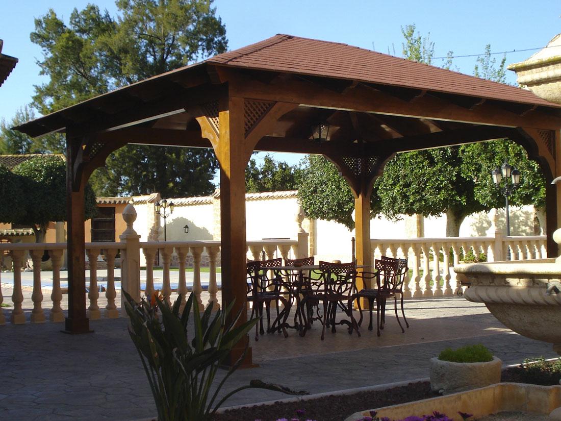 Pergolas jardin pergolas de madera murcia y alicante - Muebles de jardin murcia ...